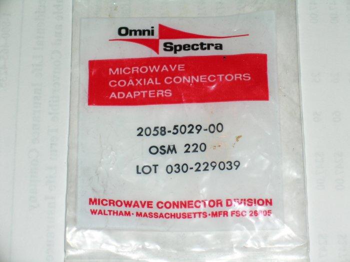 OSM-220 2058-5029-00 2058-5029 Omni Spectra RF sma panel mt jack recep