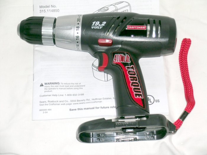 "NEW Craftsman SEARS 19.2 Volt 1/2"" cordless drill 2 speed. EX Diehard & C-3 battery NOT included"