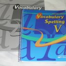 Homeschool Abeka Vocabulary Spelling V Grade 11 Quiz Key & Teacher Key Lot of 2 books