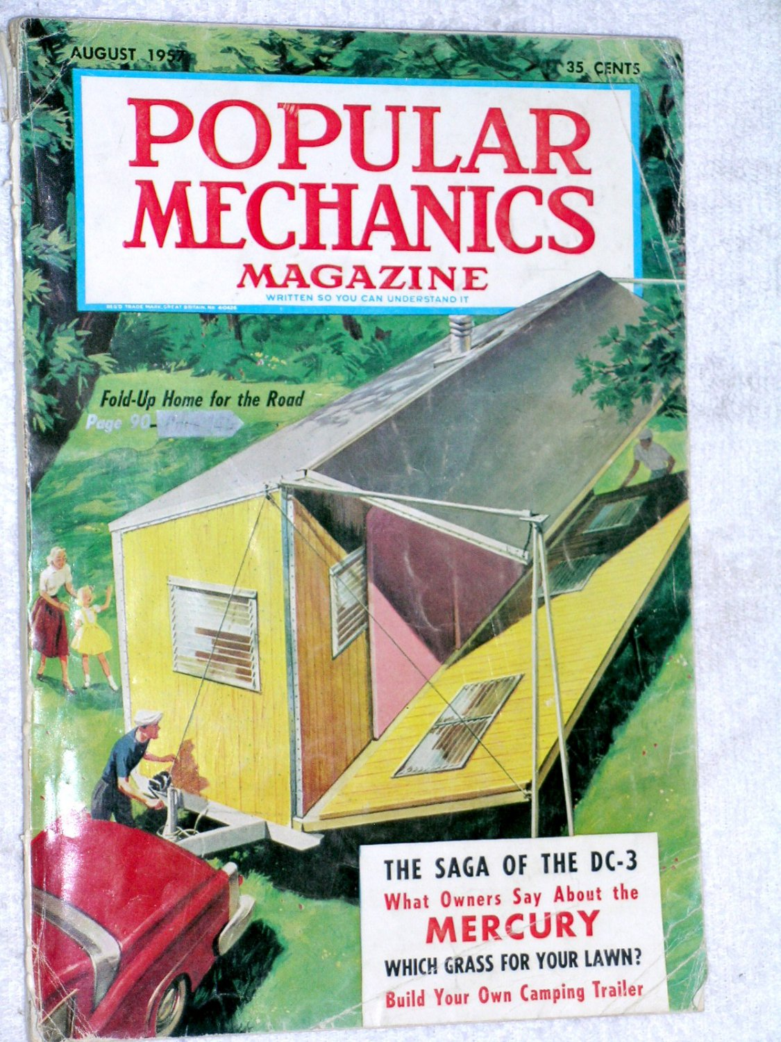 Popular Science Aug 57 Fold Up Home for Road