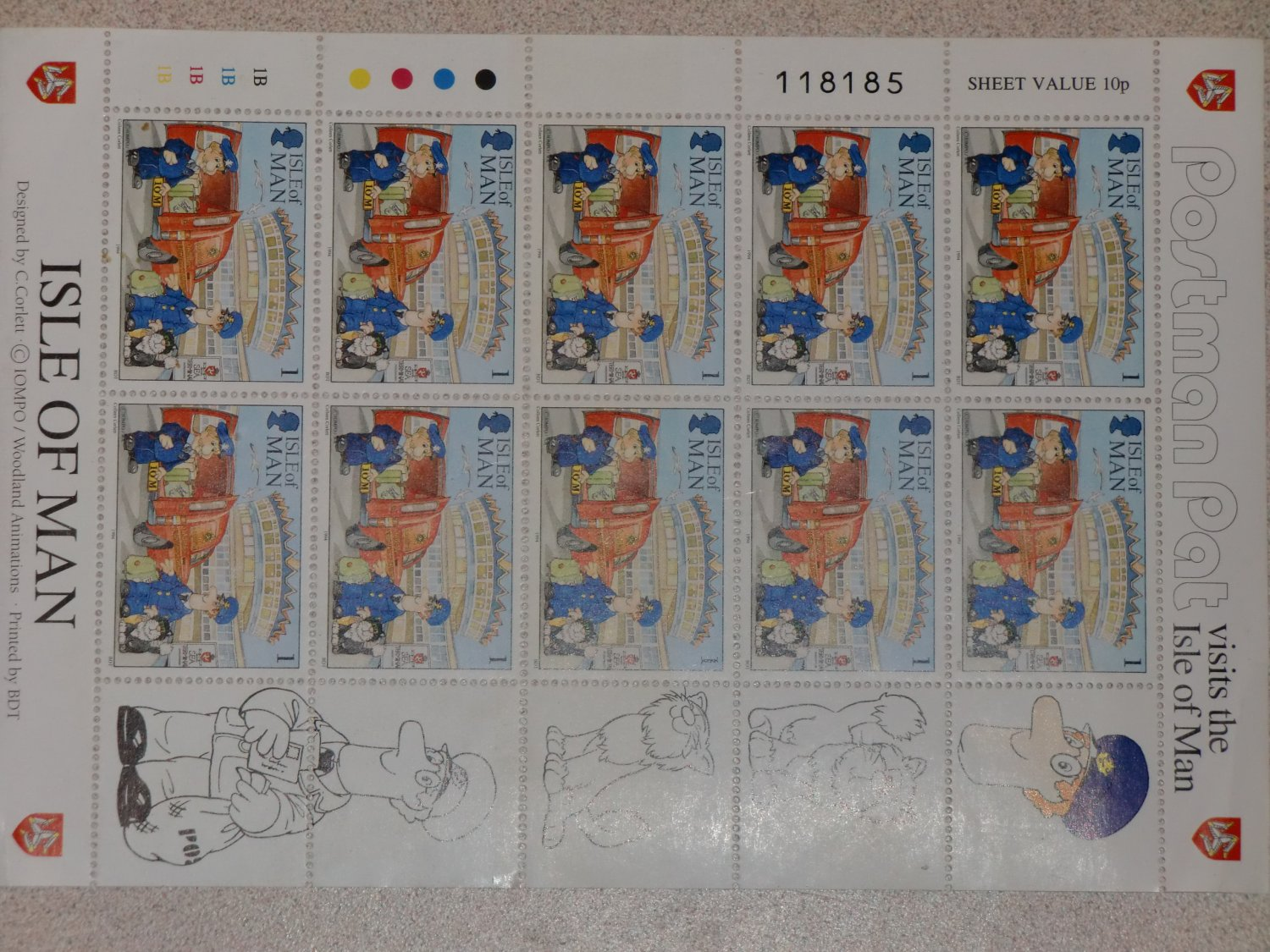 Isle Of Man United Kingdom  City pictures : Postman Pat stamps, Isle of Man United Kingdom, Britain,England,