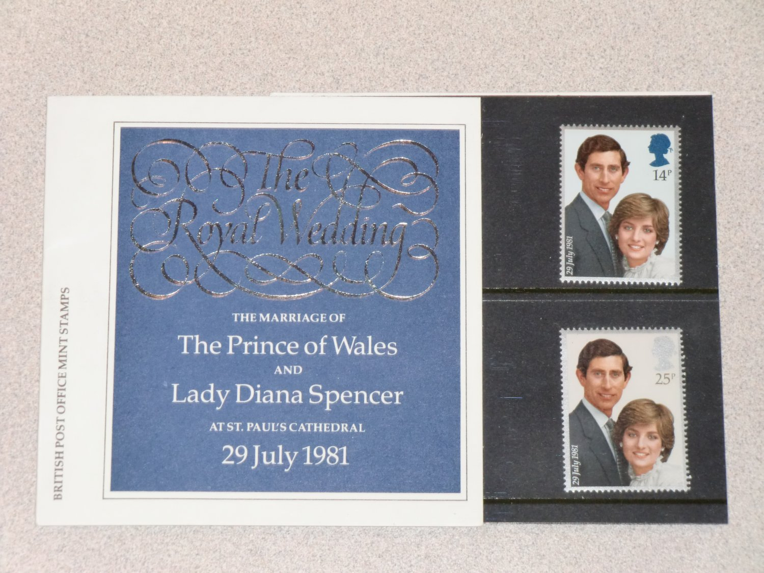 Stamps Royal Wedding 1981 Lady Diana Spencer & Prince Charles United ...