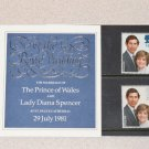 Stamps Royal Wedding 1981 Lady Diana Spencer & Prince Charles United Kingdom, Britain,England,