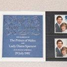 Stamps Royal Wedding 1981 Lady Diana Spencer & Prince Charles United Kingdom,England, Fareham