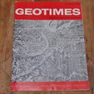 GEOTIMES 1965 October Vol.10, No.3 American Geological Institute Journal Magazine
