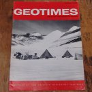 GEOTIMES 1966 March Vol.10, No.7 American Geological Institute Journal Magazine