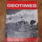 GEOTIMES 1966 September Vol.11, No.2 American Geological Institute Journal Magazine