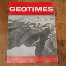 GEOTIMES 1966 November Vol.11, No.4 American Geological Institute Journal Magazine