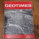 GEOTIMES 1967 January Vol.12, No.1 American Geological Institute Journal Magazine