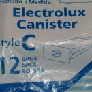 Electrolux Vacuum Cleaner Bags Tank Style C Canisters 12 pack Allergy Allergen
