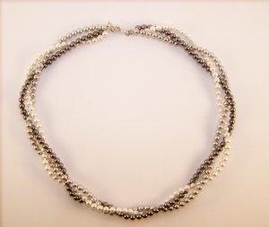 "16"" Swarovski Pearl Three strand Choker"