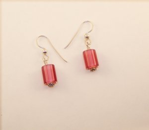 Candy Cane glass earrings