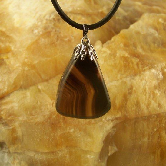 Dark Brown Brazilian Agate Pendant