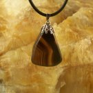 Dark Brown Brazilian Agate Pendant