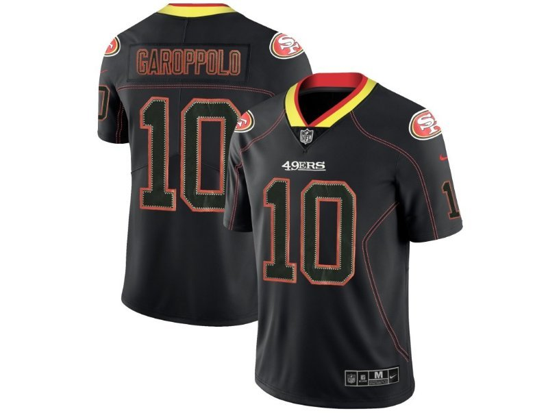 045575102 The men s San Francisco 49ers  10 Jimmy Garoppolo Black shadow jersey MLS