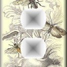Vintage Illustration of Various Winged Insects Bugs Outlet Cover