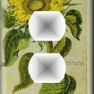 Vintage Botanical Illustration Sunflower Outlet Cover