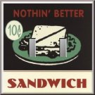 Sandwich 10 Cents Retro Look Diner Sign Double Switch Plate