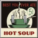 Hot Soup 5 Cents Retro Look Diner Sign Double Switch Plate