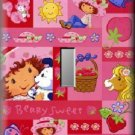 Strawberry Shortcake Collage Single Switch Plate