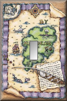 Map to Location Lost City Atlantis Single Switch Plate
