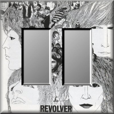 The Beatles Revolver Album Cover Art Double Rocker Switch Plate