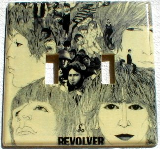 The Beatles Revolver Album Cover Art Double Switch Plate
