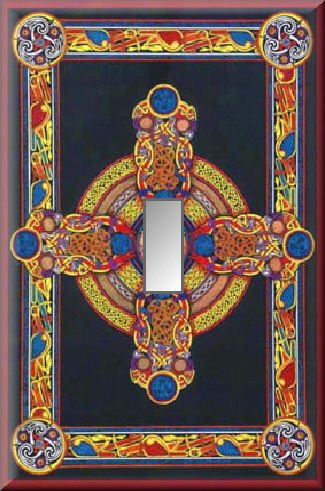 Colorful Celtic Cross Designs Single Switch Plate