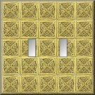 Tiled Square Celtic Knots Design Double Switch Plate