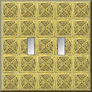 Tiled Square Celtic Knots Design Double Switch Plate