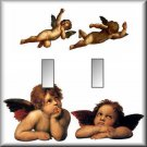 Classic Angels Cherubs Double Switch Plate