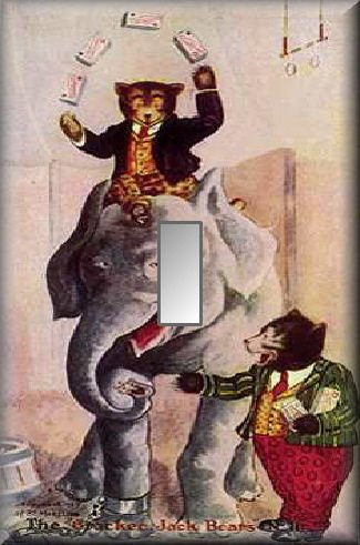 Cracker Jack Bears Circus Elephant Single Switch Plate