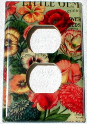 Vintage Little Gem Collection Flower Seed Packet Outlet Cover