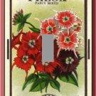 Vintage Phlox Flower Seed Packet Single Switch Plate