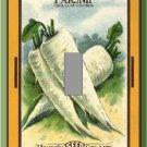 Vintage Parsnip Vegetable Seed Packet Single Switch Plate