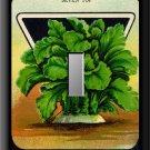 Vintage Turnip Vegetable Seed Packet Single Switch Plate