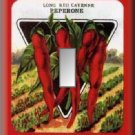 Vintage Cayenne Pepper Seed Packet Single Switch Plate