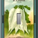 Vintage White Radish Seed Packet Single Switch Plate