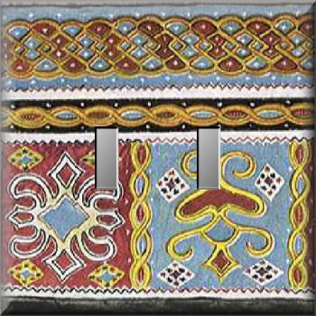 Detail from East Indian Tapestry Double Switch Plate