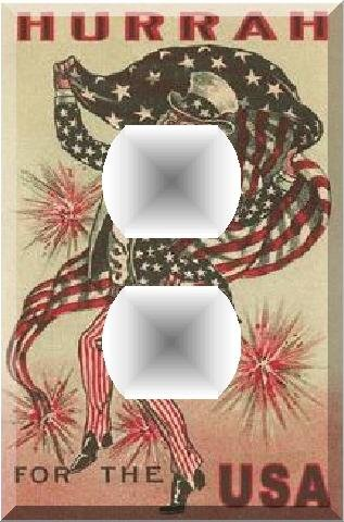 1880s Postcard Uncle Sam Firecrackers Outlet Cover #2