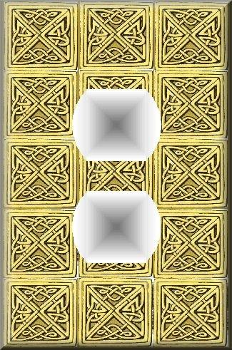Tiled Square Celtic Knots Design Regular Outlet Cover