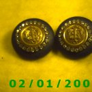 Black, Gold n Rhinestones Clip On Earrings   (071)