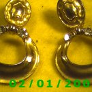 Gold w/Rhinestones Clip On Earrings  (073)
