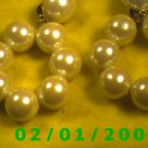 Pearls Clip On Earrings