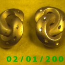 Gold Knots Clip On Earrings