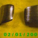 Gold Shield Clip On Earrings