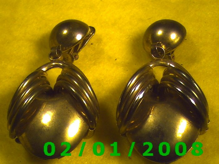 Gold Bug Clip On Earrings