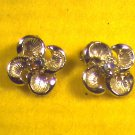 Silver Earrings Clip On w/Stone  (008)