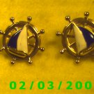 Ship's Wheel  Pierced Earrings