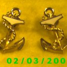 Ship's Anchor  Pierced Earrings